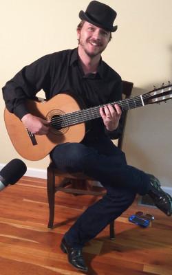 Alan Mearns Playing Guitar