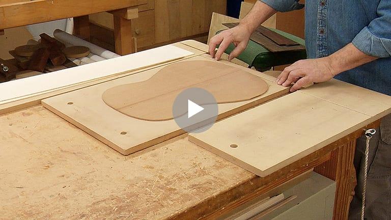 Woodworking Equipment for Guitar Building - drum sander platens members