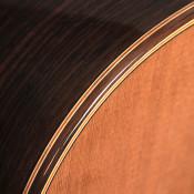 J.S. Bogdanovich cedar top Indian rosewood classical guitar purfling detail