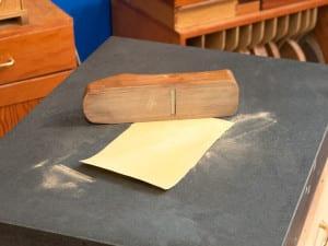 Sharpening your tools - granite flattening surface