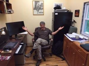 Bogdanovich in the New Office