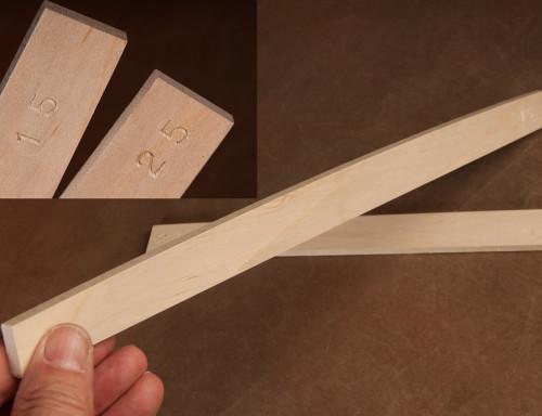 Guitar Building Radius Sticks